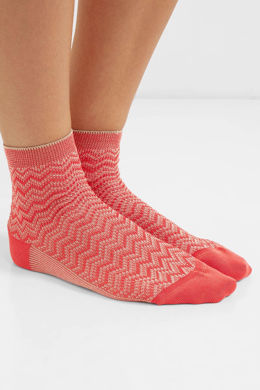 Missoni Metallic crochet-knit socks