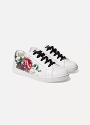 Size 29 - 36 floral-print leather sneakers