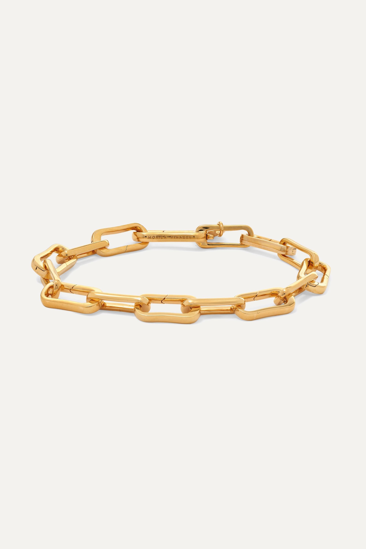 Monica Vinader Alta Capture Armband aus Gold-Vermeil für Anhänger
