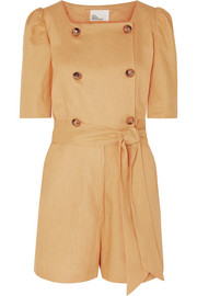 Diana belted linen playsuit