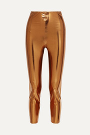 Lisa Marie Fernandez Karlie metallic stretch-PVC leggings