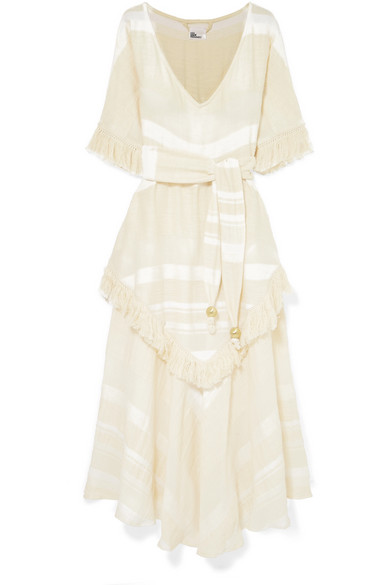 1af8cb6c65 Lisa Marie Fernandez. Laura fringed tiered cotton-gauze maxi dress