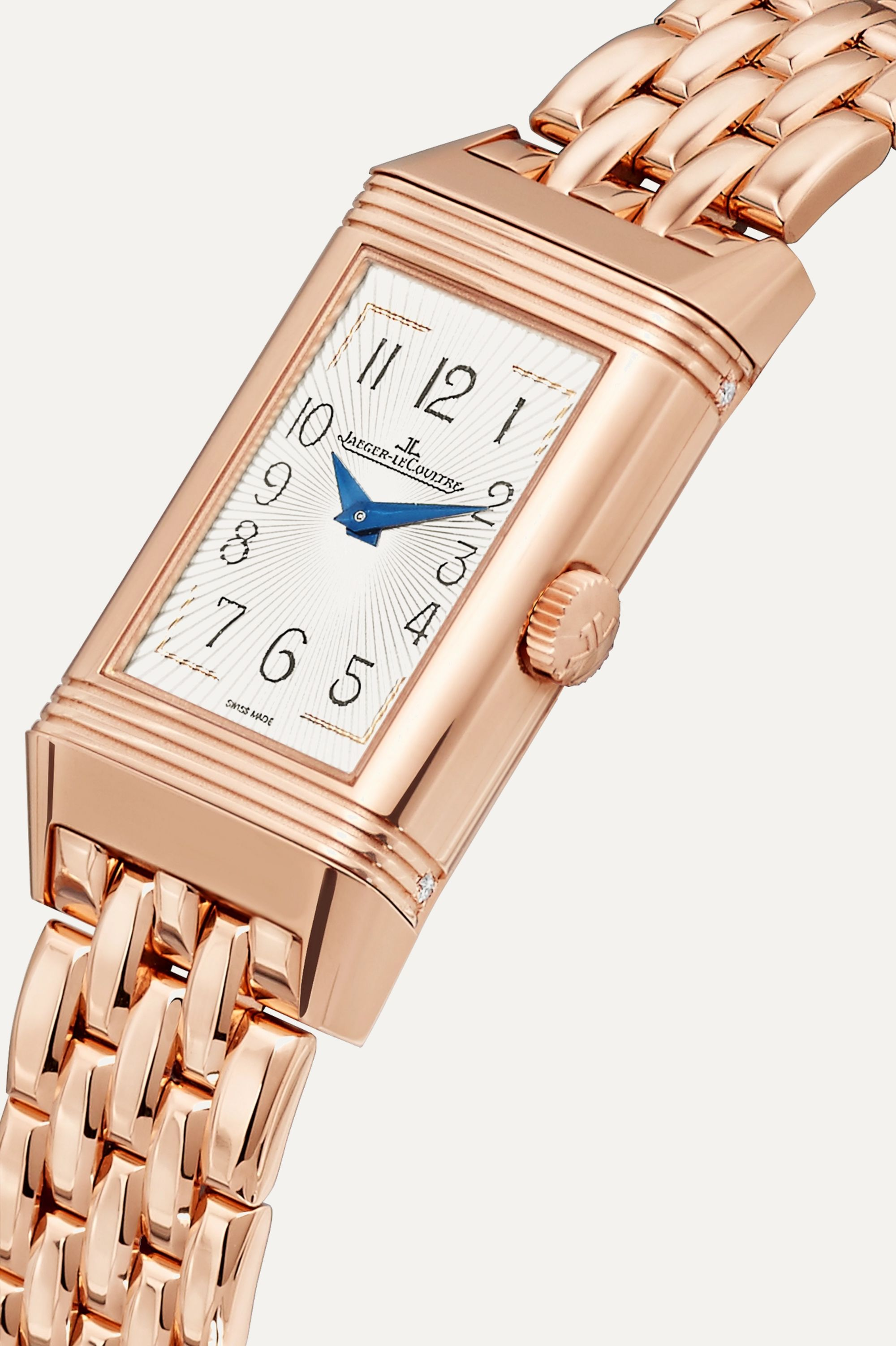 Jaeger-LeCoultre Reverso One Duetto Moon 20mm rose gold and diamond watch