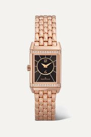 Reverso Classic Duetto small 21mm rose gold and diamond watch