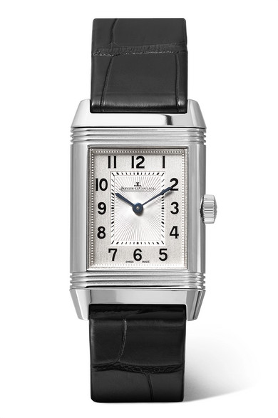 JAEGER-LECOULTRE Reverso Classic 21Mm Small Stainless Steel And Alligator Watch in Silver