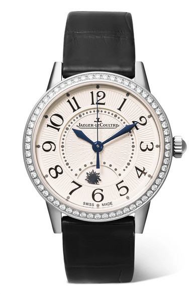 JAEGER-LECOULTRE Rendez-Vous Night & Day 29Mm Stainless Steel, Alligator And Diamond Watch in Silver