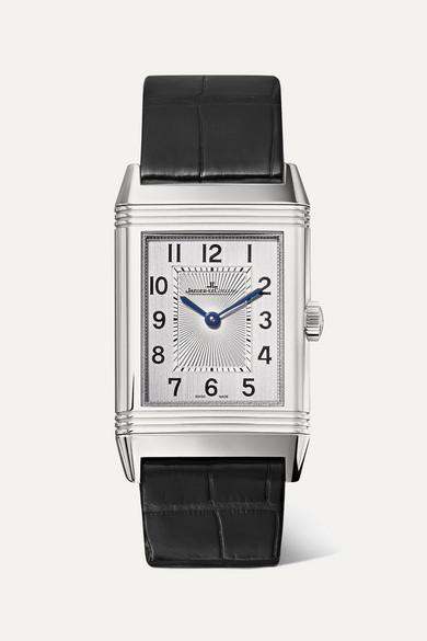 JAEGER-LECOULTRE Reverso Classic Medium Thin 24.4Mm Stainless Steel And Alligator Watch in Silver