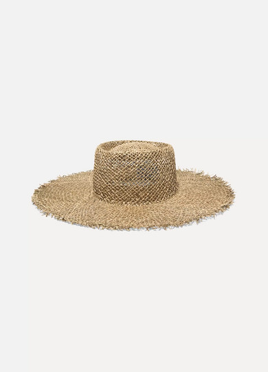 Sunnydip Frayed Straw Boater by Lack Of Color