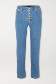 Den high-rise slim-leg jeans