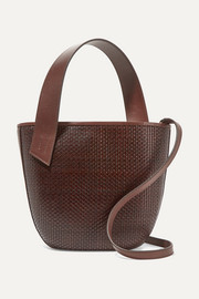TL-180 Panier Saigon woven leather shoulder bag