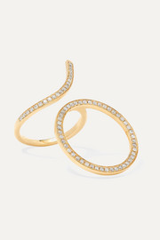 18-karat gold diamond ring