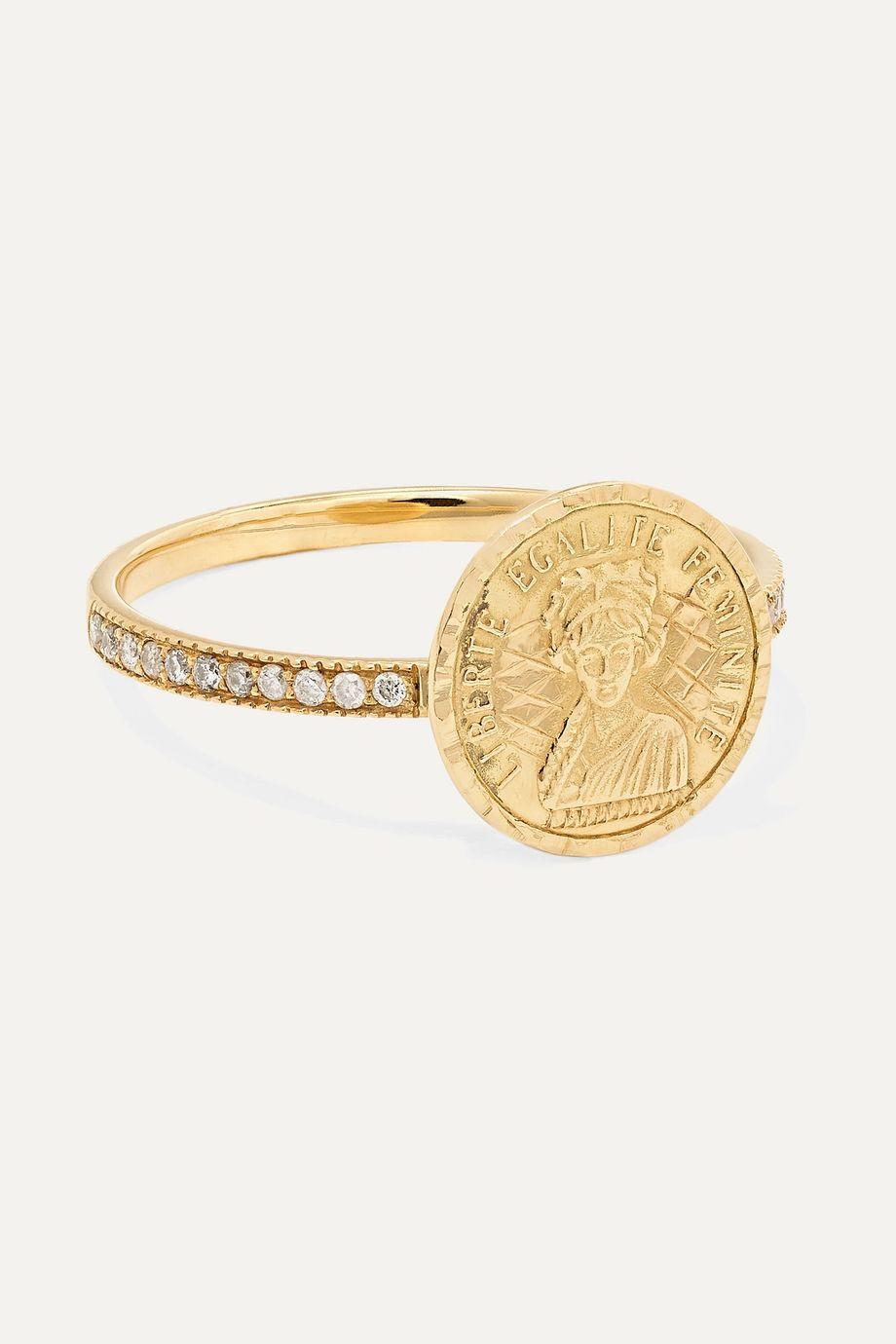 Anissa Kermiche Louise D'Or Pavé 18-karat gold diamond ring