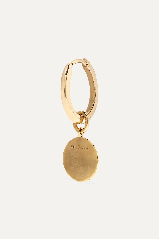 Anissa Kermiche Louise d'Or Coin Creole aus 18 Karat Gold mit Diamanten