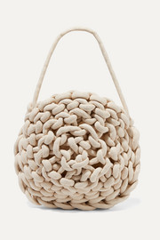 Alienina Ida woven cotton shoulder bag