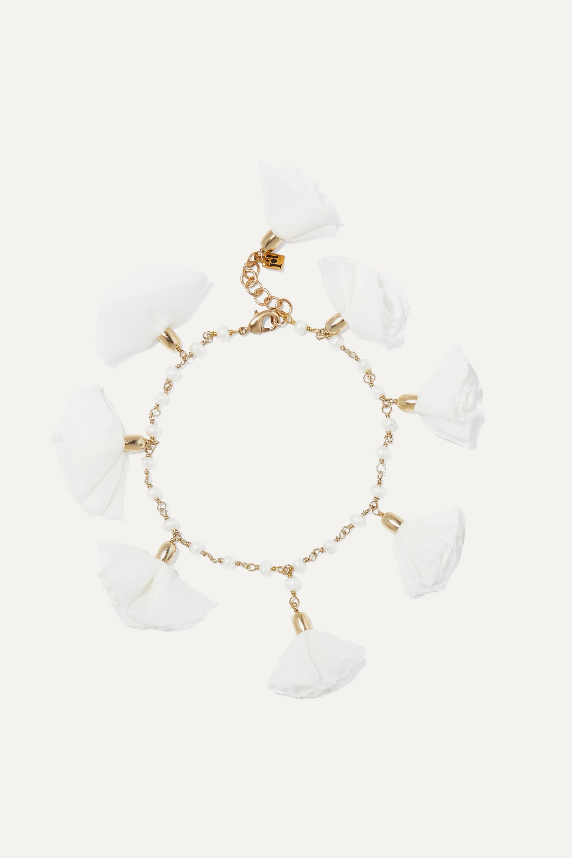 Rosantica Brezza gold-tone, pearl and satin anklet
