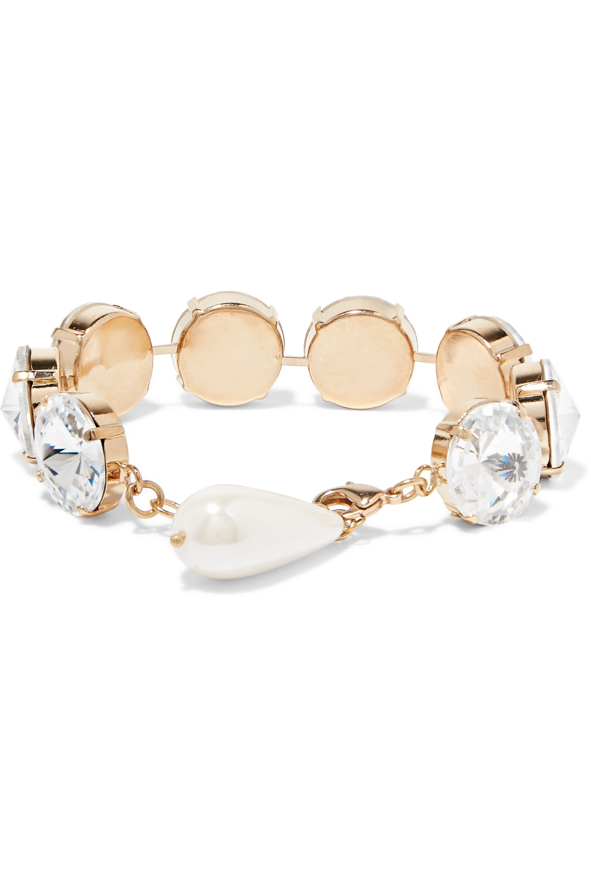 Rosantica Gold-tone, crystal and faux pearl bracelet