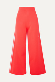 adidas Originals Striped stretch-knit wide-leg track pants