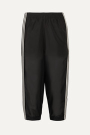 adidas Originals Cropped striped mesh track pants