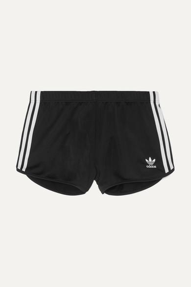 5f4a6c7e2d adidas Originals | Striped satin-jersey shorts | NET-A-PORTER.COM