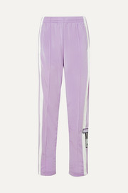adidas Originals Adibreak appliquéd striped satin-jersey track pants