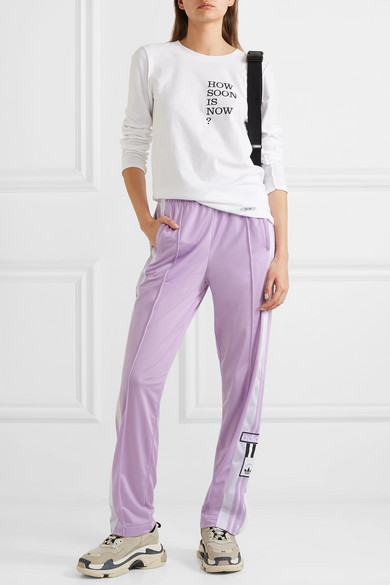 07175255b9ea adidas Originals | Adibreak appliquéd striped satin-jersey track ...