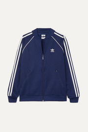 adidas Originals Superstar striped satin-jersey track jacket