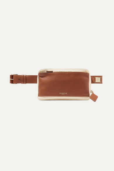 Ny Leather And Canvas Belt Bag by Zoobeetle Paris