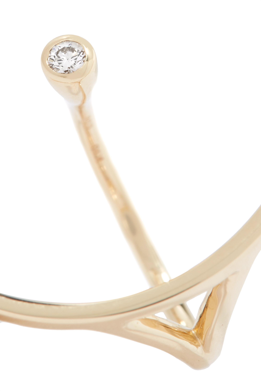 Hirotaka Tree Hopper 10-karat gold diamond ring
