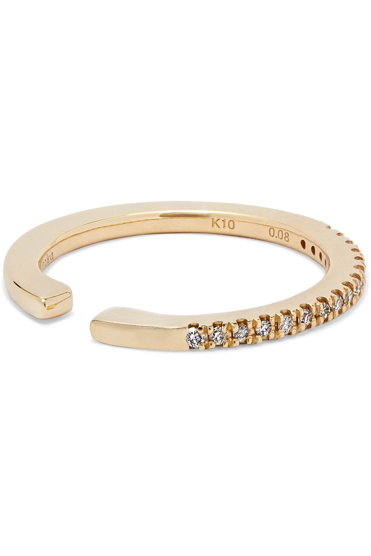 Hirotaka Gossamer 10-karat gold diamond ear cuff