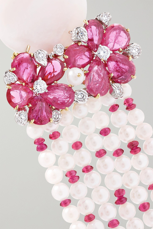 Bina Goenka 18-karat gold multi-stone earrings