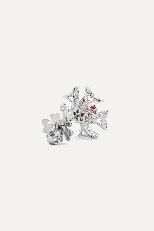 Bina Goenka 18-karat white gold multi-stone earrings