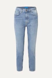 Mimi cropped distressed high-rise slim-leg jeans
