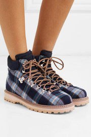 Roccia Vet checked canvas ankle boots