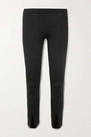 Thilde stretch-cady straight-leg pants