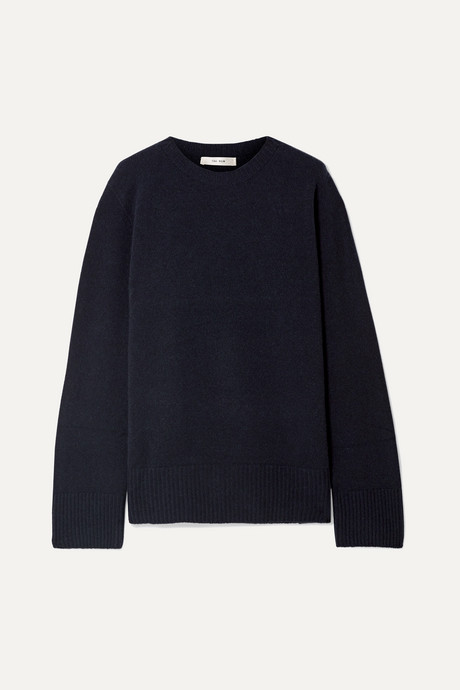 Midnight blue Sibel oversized wool and cashmere-blend sweater | The Row jQeHg8