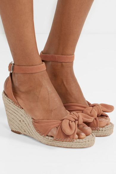 77968d3a5bf Loeffler Randall | Tessa knotted suede espadrille wedge sandals ...