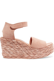 Dory suede espadrille wedge sandals