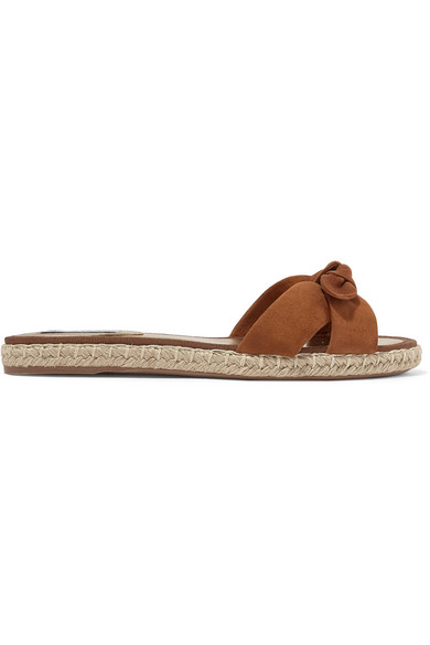 Heli Bow Embellished Suede Espadrille Slides by Tabitha Simmons