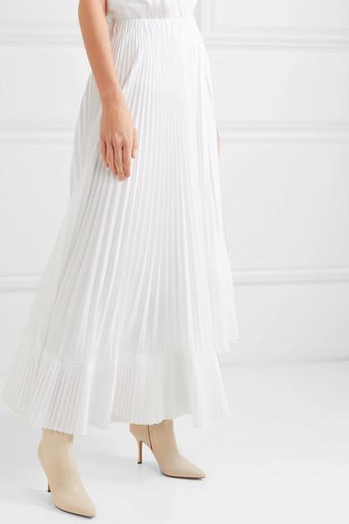 690ce16da2 Brunello Cucinelli | Asymmetric pleated crepe de chine maxi skirt ...