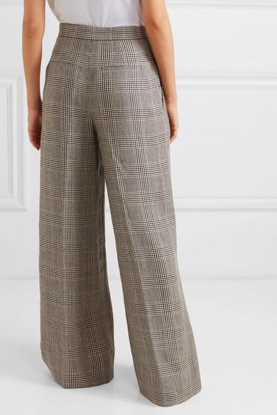 Brunello Cucinelli Pants Houndstooth linen wide-leg pants