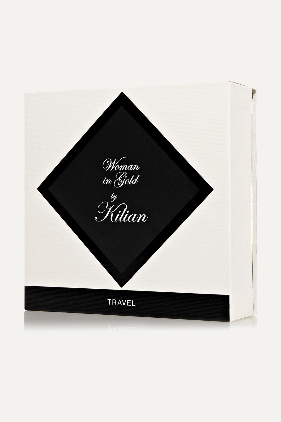 Kilian Woman In Gold Travel Set, 4 x 7,5 ml – Set aus Eaux de Parfum und Zerstäuber