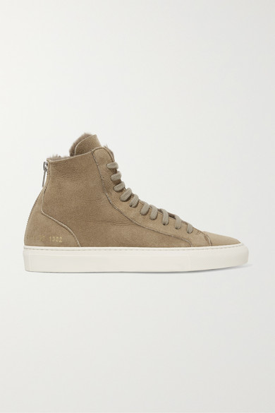 eb40c0159b074 Common Projects. Tournament shearling high-top sneakers