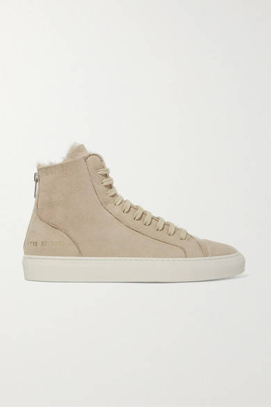Tournament Shearling High Top Sneakers by Common Projects