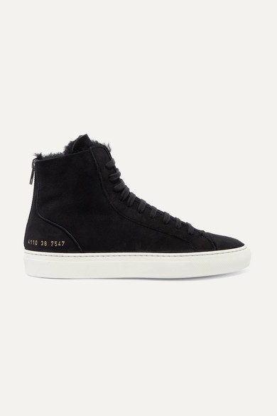 97097d088aa2 Common Projects   Tournament shearling-lined suede high-top sneakers ...