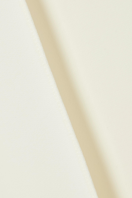 Ivory Cropped Crepe Jacket | Safiyaa