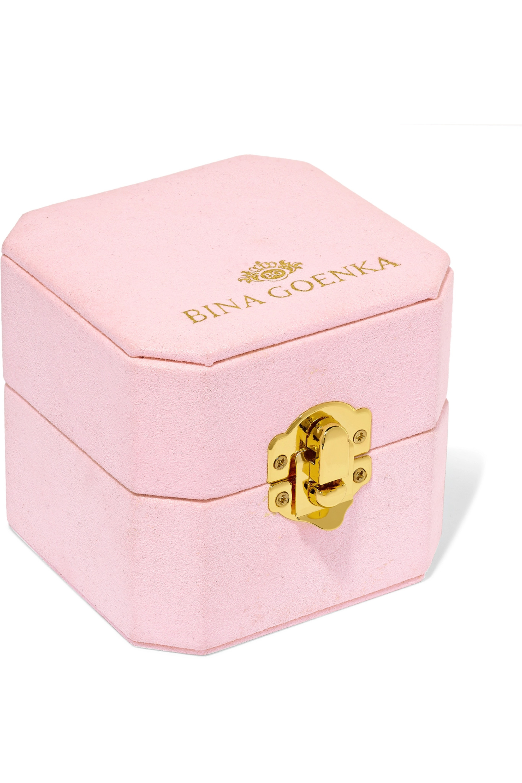 Bina Goenka 18K 白金多种宝石戒指
