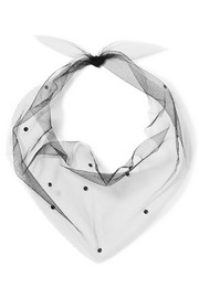 Pan & The Dream Swarovski crystal-embellished tulle scarf