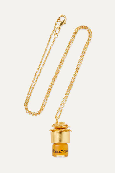 STRANGELOVE NYC Perfume Oil Necklace - Silencethesea, 1.25Ml in Colorless