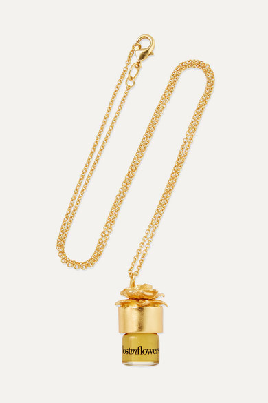 STRANGELOVE NYC Perfume Oil Necklace - Lostinflowers, 1.25Ml in Colorless
