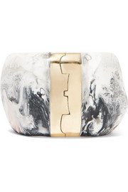 Bold Stone resin and gold-tone bracelet